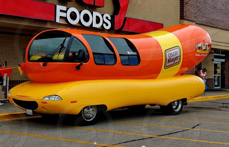 One of a kind hotdog car photo