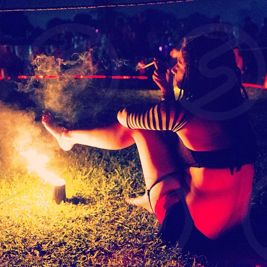 Fire Dancer at the Gathering of the Vibes Bridgeport CT photo