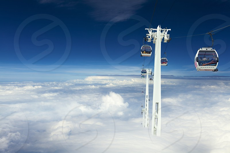 Ride Above the Clouds by Emirates Air Line London UK photo