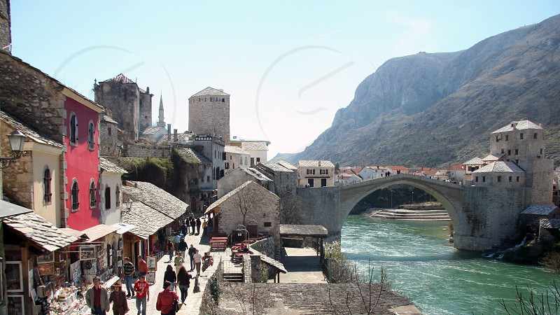 Mostar red house photo