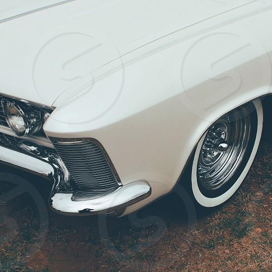 white car hood photo