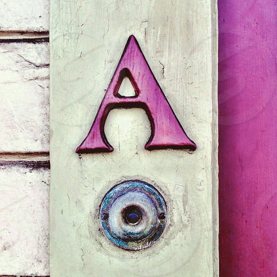 Doorbell letter A  photo