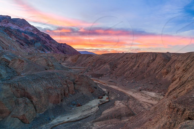 Artist's Palette area at sunrise. Death Valley National Park. California. USA photo