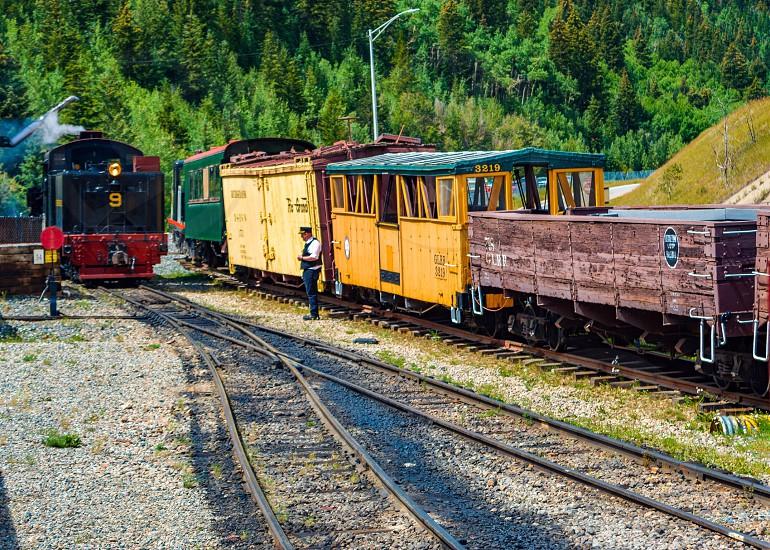Rail railway linerailway track train toy train steam engine mini rails travel mountain trains vail Colorado Georgetown Georgetown railways USA photo