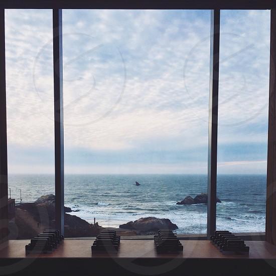 brown wood window frame photo