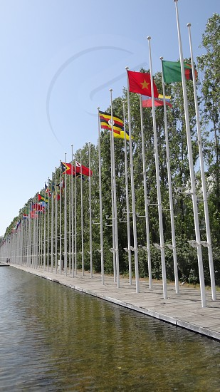 Many Countries Flags in Lisbon Portugal photo