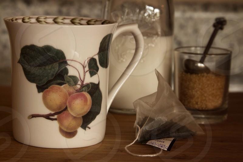 English style tea with milk photo