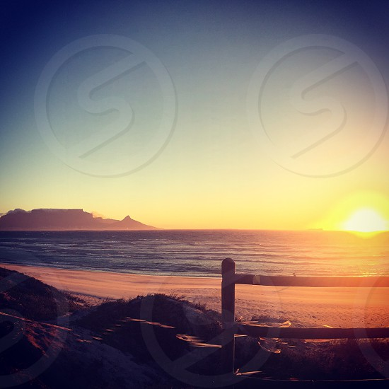 A classic Cape Town sunset  photo