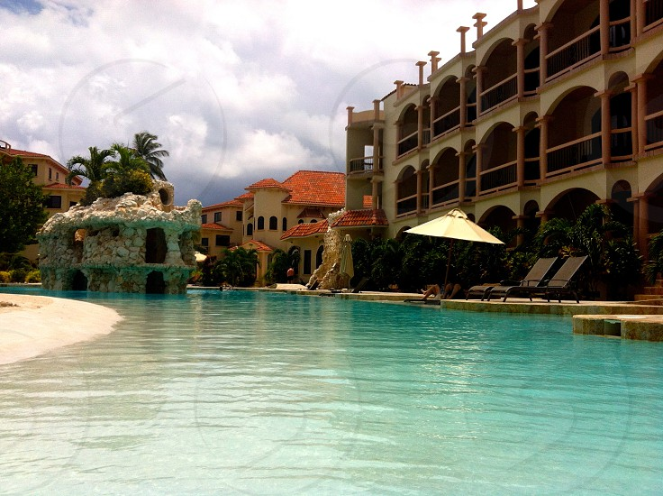 river like pool resort photo