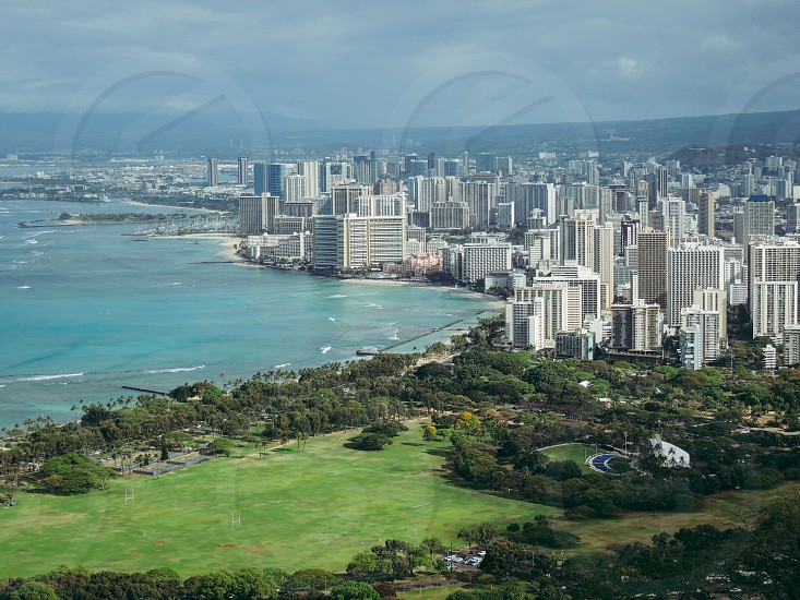 View from Diamond head Oahu photo