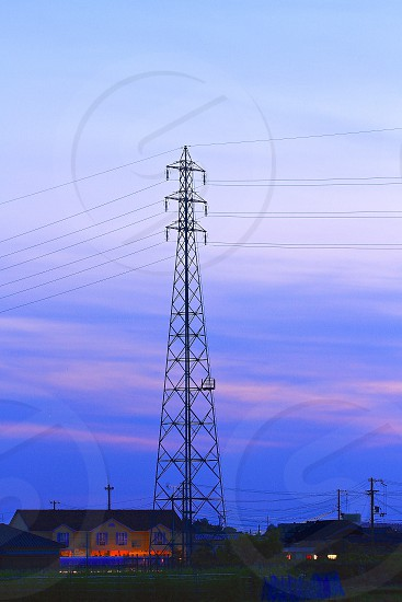 brown electric tower photo