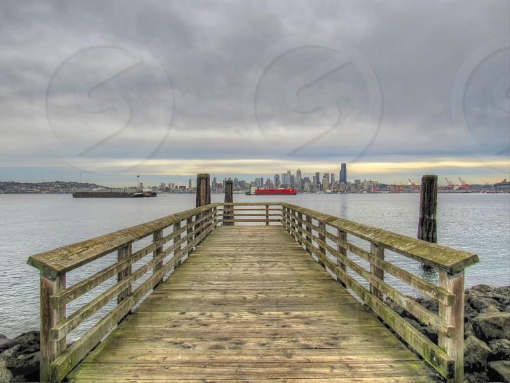 Seattle Skyline from Alki Beach photo