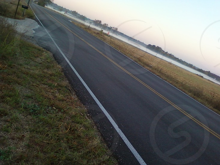 roads roadway travel street asphalt dawn photo
