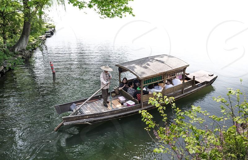 Hangzhou China Westlake lake boat photo