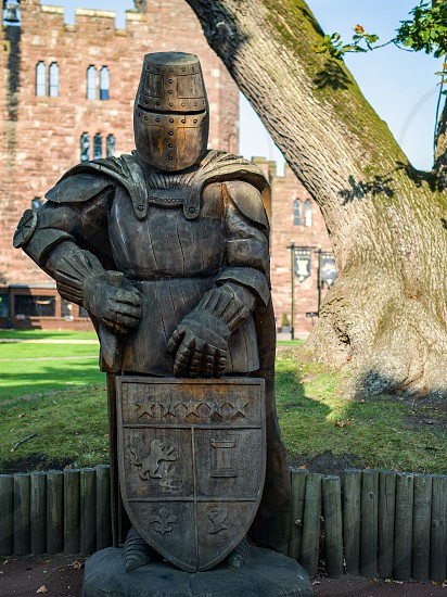 Wooden Knight in the Grounds of Peckforton Castle photo