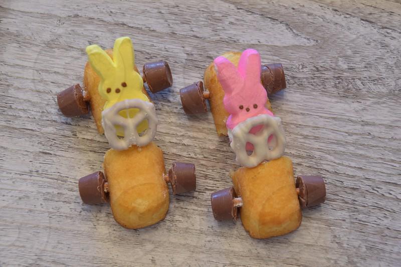 Easter Peeps riding into Spring Break photo