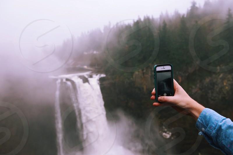 white smartphone photo