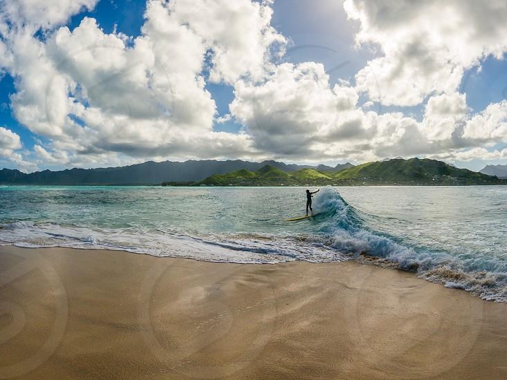 Surfing Hawaii Kailua Oahu  photo