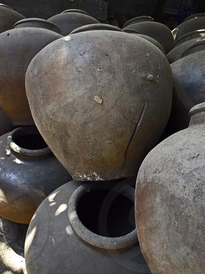 Clay Jars. photo