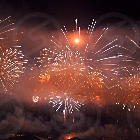 white and yellow fireworks display photo