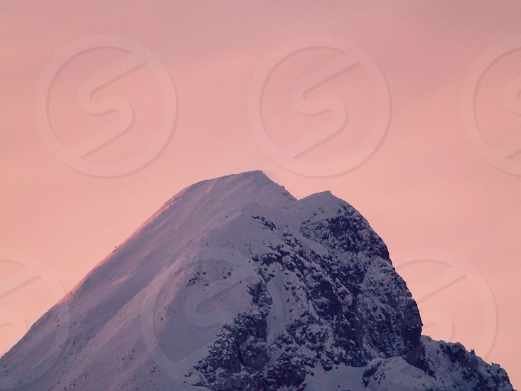 #mountain #nature #sky #photography #pink #night #cool #snow #winter photo