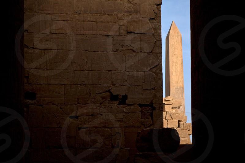 Obleisk at Karnak temple Luxor photo