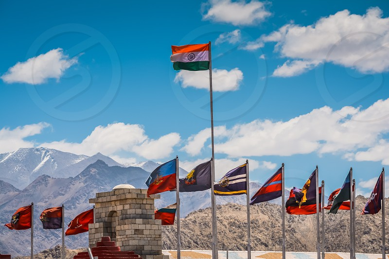 Flag India Indian flag Indian army Leh ladakh hall of fame flags patriotism  photo