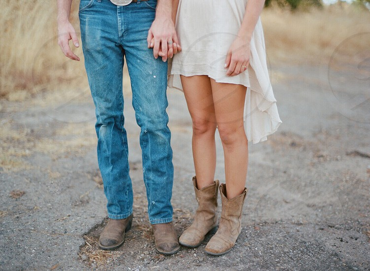 Couple love holding hands  photo