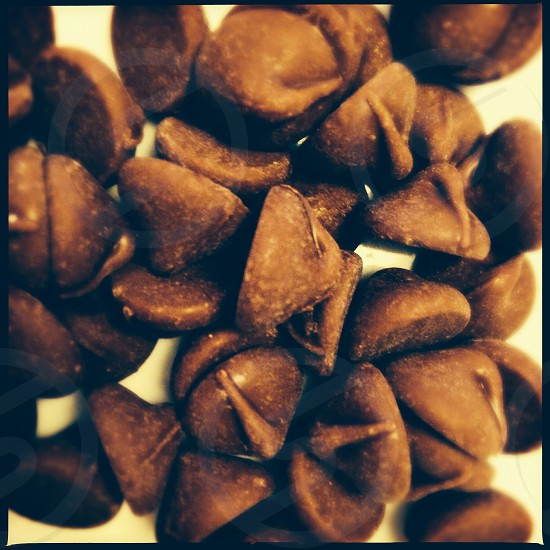 Chocolate chips - close up photo