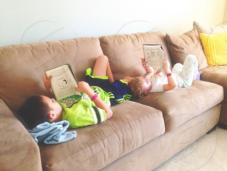 Bookworms. 📚🐛My children...reading together... be still my heart. photo