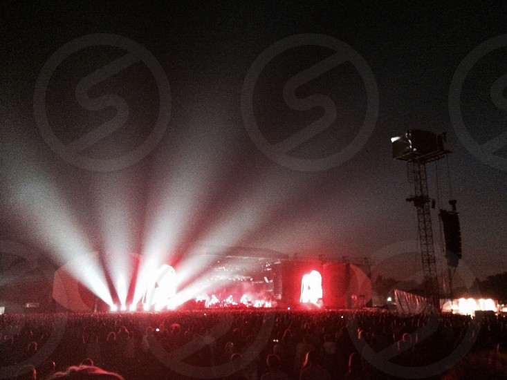 Gorgeous lights at a Pearl Jam gig at Milton Keynes Bowl.  photo
