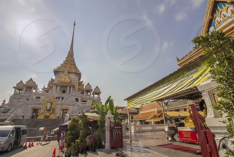 the Traimit temple near Chinatown of Bangkok thailand photo