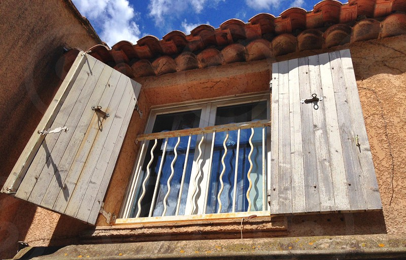 Window shutters doors open photo