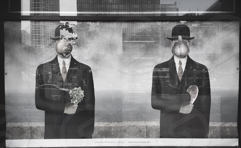 2 men wearing coat artwork photo