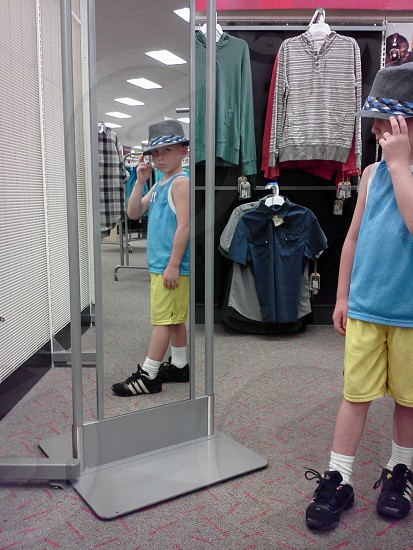 Cool dude hat mirror store photo