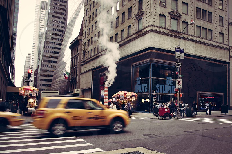 Fast cab in a NYC crossing photo