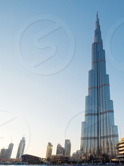 Burj khalifa the tallest building in the world in the afternoon  photo