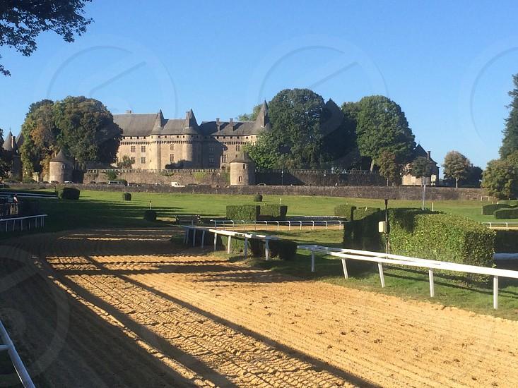 Pompadour château and racecourse photo