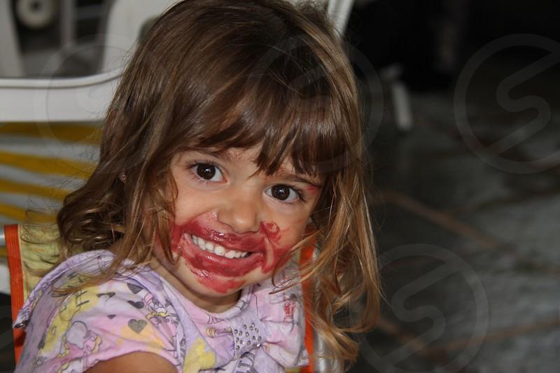 girl's face photo