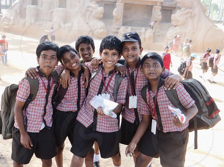 Friendsschoolboysyouthteenschool uniformtraveleducation photo