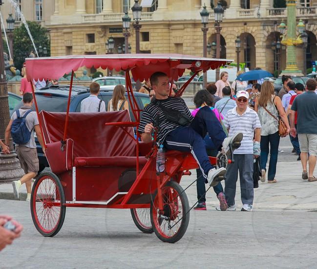 Bicycle rickshaw. # vehicles photo