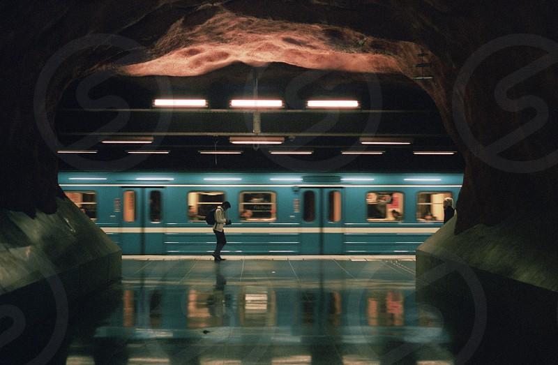 Train Metro Stockholm Tunnels Caves Film Retro Candid photo