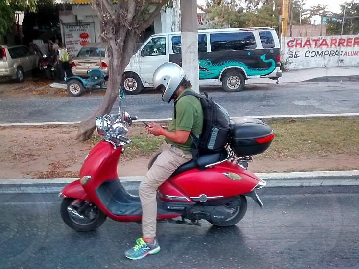 Moto texto Playa Del Carmen Mexique  photo