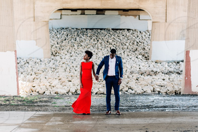 African couple engagement photography photo