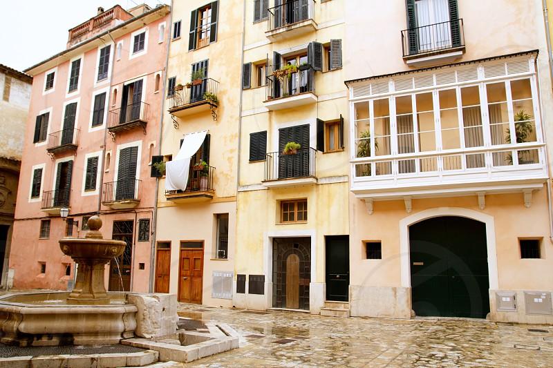 Plaza placa sant Jeroni Majorca in Palma de Mallorca barrio Calatrava Balearic spain photo