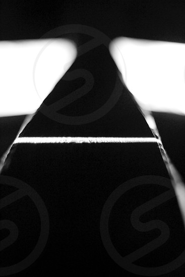 black and white light photo