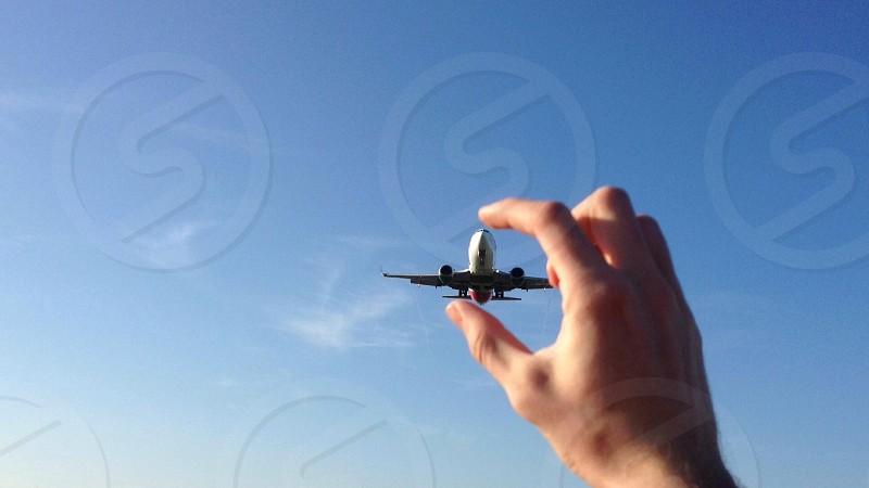 flying airplane macro photography photo