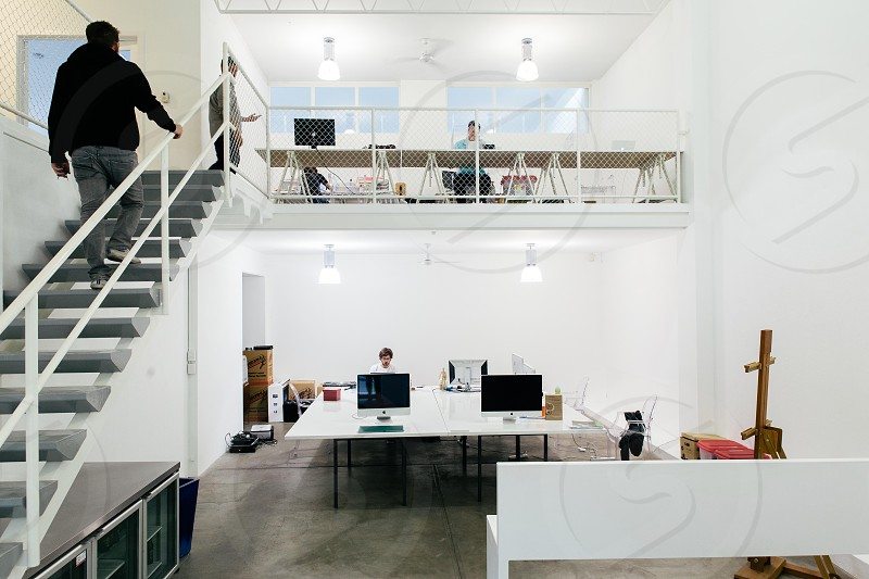 White modern office space photo