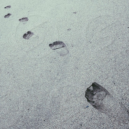 foot prints in the sands photo