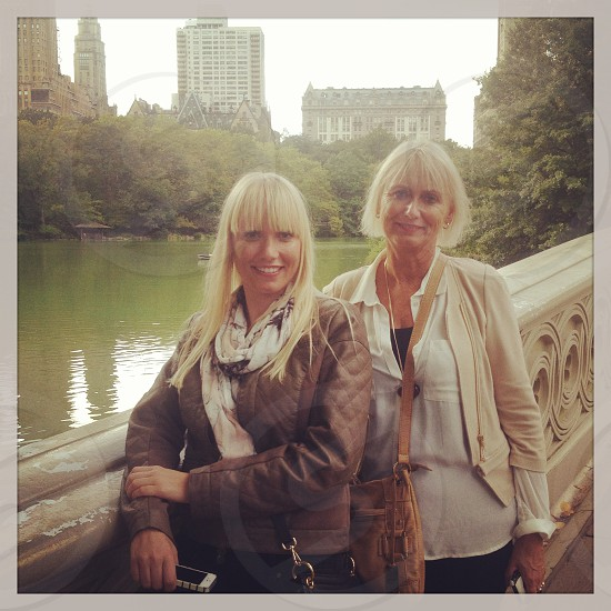 New York City street view Manhattan Central Park Mother and Daughter Portrait Family photo